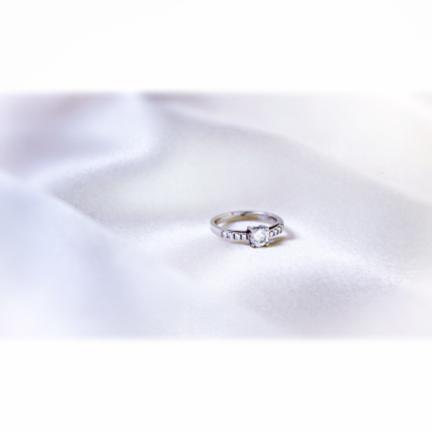 Bague de fiançailles platine et diamants